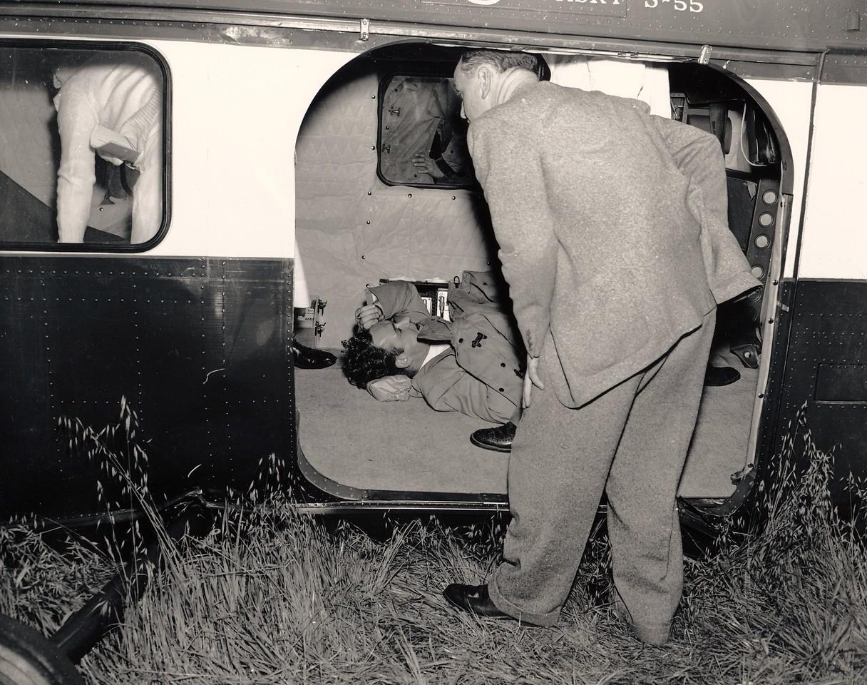 Injured passenger.
