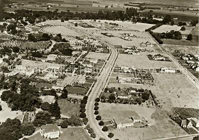 Aerial view of Crescent Park in Palo Alto, California - c. 1930s