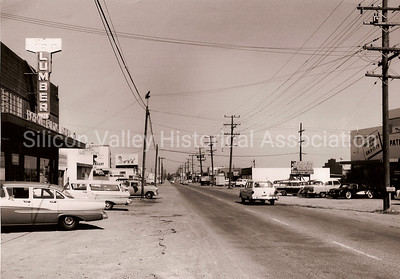 Middlefield Road in Redwood City, California 1960