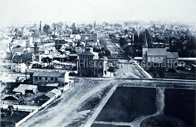 Looking south from City Hall, 1890, San Jose, California.