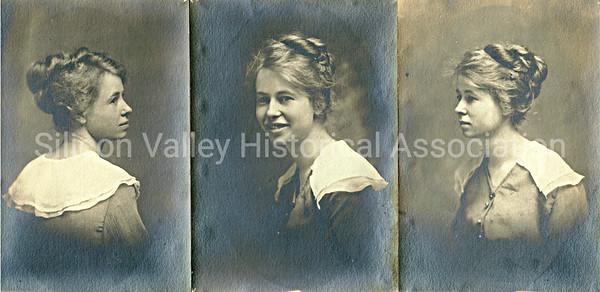 Portraits of an early 1900s Santa Clara County resident
