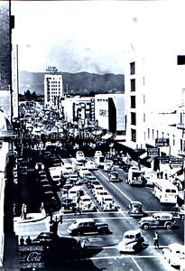 Downtown San Jose California at Second Avenue in 1948