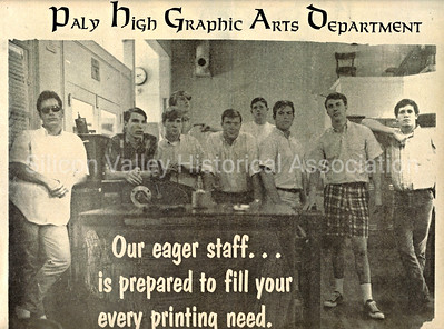 Paly High Graphic Arts Department in 1967