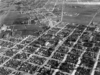 Aerial view of Santa Clara, California in 1944 - showing Santa Clara University