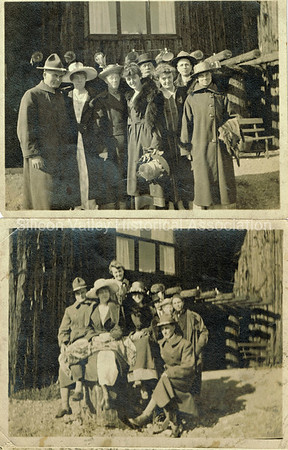 Santa Clara County families posing for photos, c. 1921