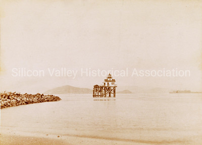 Oakland Harbor Light Station in Oakland, California c. 1891