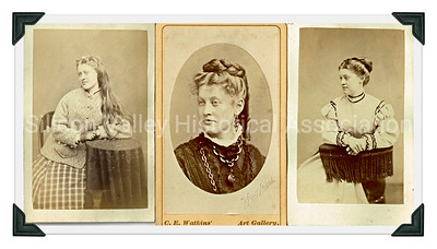 Georgie Hughes nee Taylor photographs from 1870s