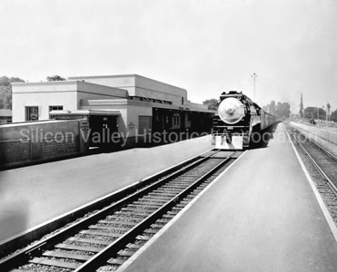 Train at the Palo Alto Train Station in 1950