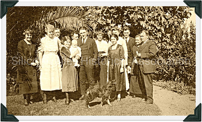 Santa Clara County family celebrating a christening, c. 1921