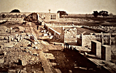 Early Stanford University construction c. 1880s