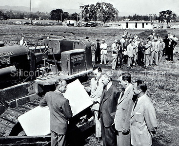 Construction at Stanford Industrial Park in 1950