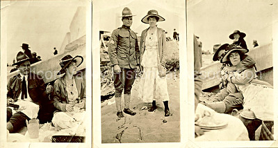Early Santa Clara County couple at a local beach in 1919