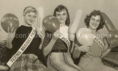 Palo Alto students in 1959 - promoting March of Dimes and Teens Against Polio