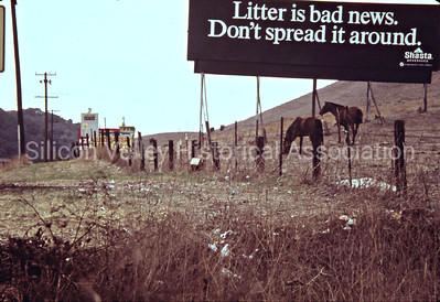 Litter is Bad News Signage from 1972 in San Francisco, California