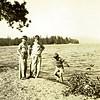 Kids near the water at Lake Tahoe, California in 1938