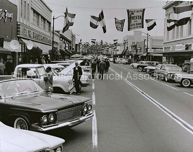 1961 Palo Alto Fiesta and Auto Show on University Avenue