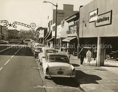 Downtown Palo Alto, California in 1958