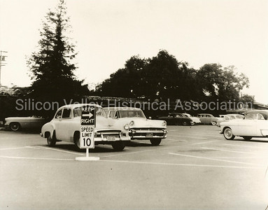 Palo Alto Town & Country Village parking lot, c. 1954
