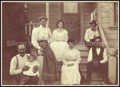 Johnson Family in Santa Clara, California circa 1907