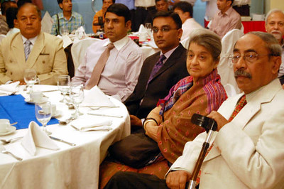 Mr. Promod Mankhin M.P. , Dr. Hamida Hossain and Writer Shahriar Kabir is seen with others