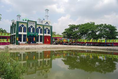 Prior to opening decorated Masjid Noor from far south-east corner