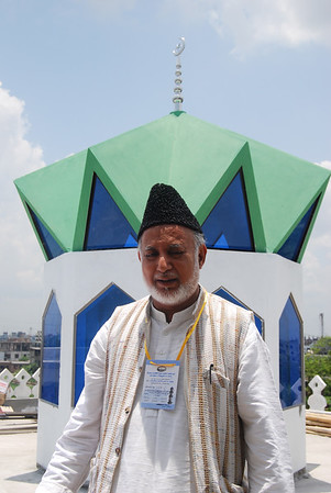 National Ameer Mobasher ur Rahman on the roof in front of Dom