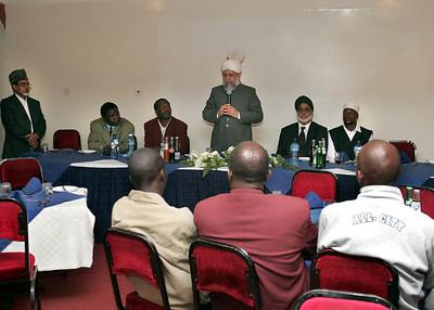 Addressing VIP's in Eldoret