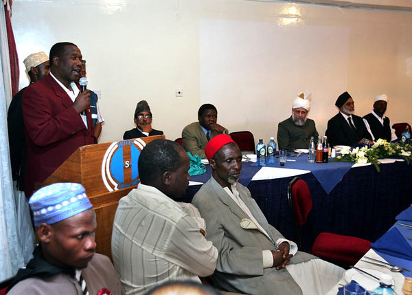 Eldoret official speaking