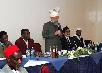 Eldoret guests listen to Khalifatul Masih V