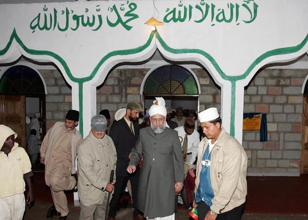 Exiting the Eldorete Mosque
