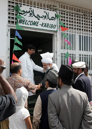 Entering Ahmadiyya Clinic in Kisumu