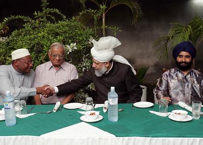 Greeting guest at VIP dinner Mombasa, Kenya