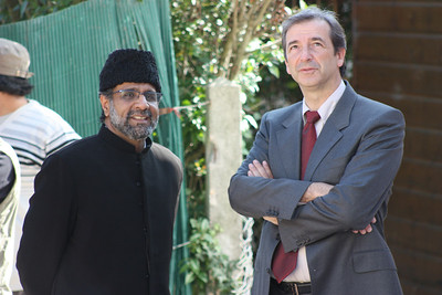 Ameer Sahib France with Jean-Pierre Enjalbert, Mayor of Saint-Prix France