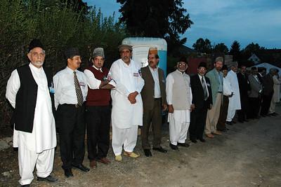 Members of Majlis Ansarullah waiting for Huzur