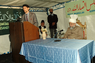 Amir Sahib saying some words about the mosque