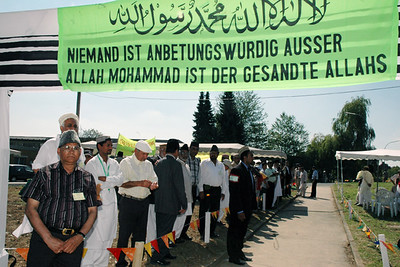 Members of Kassel Jamaat waitng for Huzur