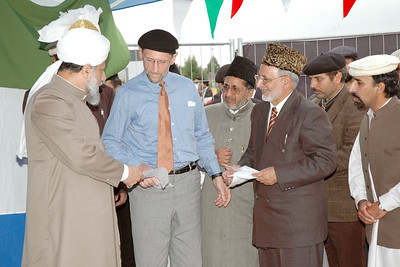 National Amir Sahib gives Huzur the programme