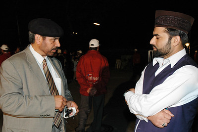 Local Amir Sahib Hamburg with Regional Mubaligh Sahib