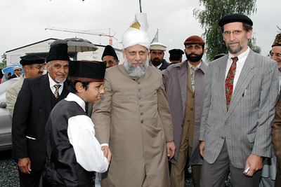 Waqf-e-Nau child with Huzur