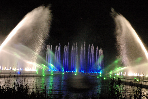Water and light show