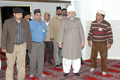 Huzur taking a tour of the mosque
