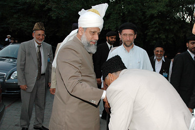 Huzur meets Regional Mubaligh Laeeq Ahmad Munir Sahib