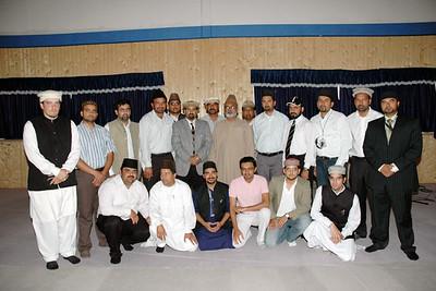 Mubashir Kahlon Sahibg with Amila of Majlis Khuddamul Ahmadiyya Germany