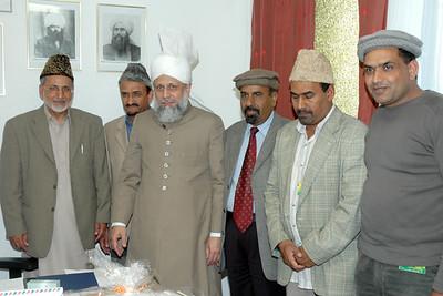 Mulaqat team having mulaqat with Huzur