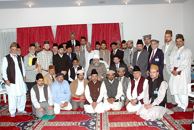 Huzur with National Amila Jamaat Ahmadiyya Germany