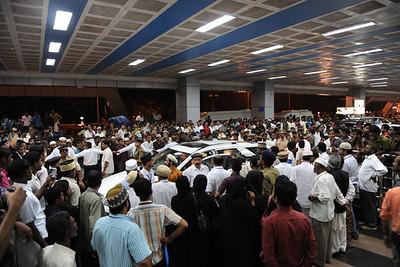 Huzur's Arrival at Calicut airport Kerala