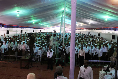 Audience at reception for Huzur at Calicut
