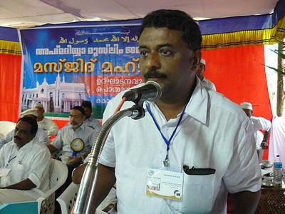 Speech by Abdul Nasar M. A. President Panchayat Kodiyathur