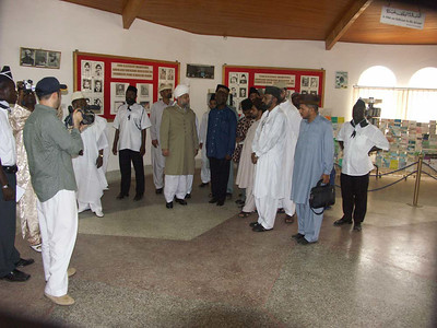 Hazrat Khalifatul Masih V visiting an Exhibition at the TI Ahmadiyya College