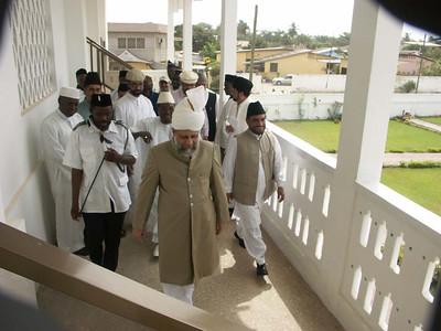 Hazrat Khalifatul Masih V Inspecting Nasir Mosque in Accra, Ghana